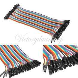 Wholesale cm mm p p Pin Female to Female Color Breadboard Cable Jump Wire Jumper For Arduino