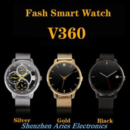 Wholesale 2016 V360 Smart Watch for Apple iPhone Huawei Android ios Smartwatch with Siri function update DM360 support Dutch Hebrew