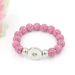 Free Shipping New Arrival Crystal Ball Metal Buttons Snap Bracelet Snap Jewelry Gift DIY