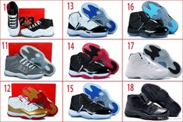 Wholesale With Box Retro XI Gamma Blue Space Jams Bred Concord DS Men Basketball Sport Trainers Shoes All Size