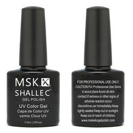 Wholesale MSK Soak off UV Led Gel Polish Long lasting Nail Art ml floz Black Pool