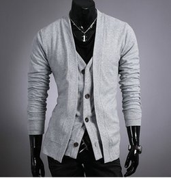 Wholesale Superb Clothing - Wholesale-Superb! 2015 High Quality New Arrival Casual Fashion Leisure Style Cardigans For Man Male Free Shipping Men's Clothing Woof