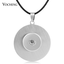 NOOSA Stainless Steel Pendant Necklace 18mm Ginger Snap Jewelry Interchangeable Jewerly NN-038