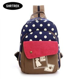 Fashion Women's Colorful Canvas Backpacks Rucksacks Student School Bags For Teenagers Girls Casual Travel bags Mochila