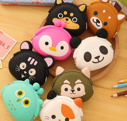 Cute bag wallet cartoon silicone coin purse makeup bags holders key case