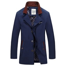 Fall-2015 mens trench coat autumn and winter Plus size clothes 5XL windbreaker jacket Mens clothing