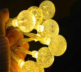 Wholesale 10m led Waterproof led string light crystal chandelier ball parts for wedding fengshui products X MAS decoration
