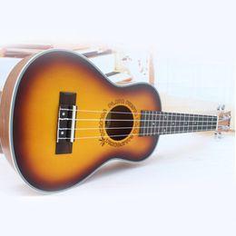 Wholesale Professional inch Classical Ukulele Guitar Music Instrument Wood Guitar Sun Ukulele Sunburst Hawaii Guitar High Quality