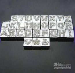 130pcs 8mm A-Z quadrate Slide letters DIY letters DIY Charm DIY Accessories