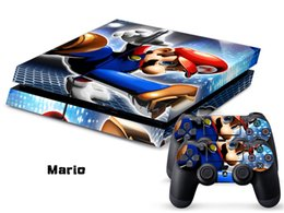 Wholesale Mario decals PS4 SKINS stickers paster tags for ps4 console controller