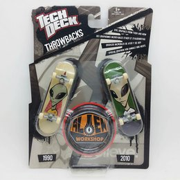 Wholesale pc Brand New double board mm Fingerboard Tech Decks Alien Workshop throwbacks Skateboard Original package boys toy