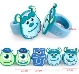 Wholesale wish_team Cute Monsters University ring Children cartoon Silicone Ring Best Xmas for kids Children Jewelrys Hot selling W908