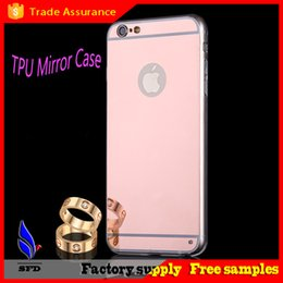Electroplate Ultra-thin Mirror TPU back Case for iPhone 6 6S plus 5 5S S5 S6 edge note 4 5