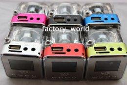 Wholesale Colorful Portable MIni TT0209 Music Speaker with Big LED Screen show time Lyrics USB FM TF Card Mp3 Sound box