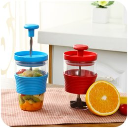 Wholesale 3 Colors PP Plastic Fruit Milk Shake DIY Manual Mixing Cup Kitchen Accessories Gadgets for Juice Juicer Cooking Tools