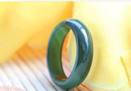 Wholesale 2015 Wonderful Man s Natural Real Green Jade Ring Lucky Rings mm Inner Diameter