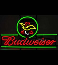 Wholesale BUDWEISER Eagle Beer Neon Sign Bud Busch Open Light Lamp board for Restaurant Convenience Handcraft Real Glass Tube