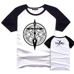 New Arrival Anime t shirt Fate zero Fate ubw Fate stay night saber curse emblem saber Casual T shirt 2XL Plus Size BT15