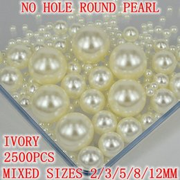 Wholesale No Hole Round Pearls Mixed Sizes Many Colors To Choose No Hole Imitation Pearls Craft Art Diy Pearl Beads Many Colors