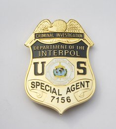Wholesale The United States international police badge badge America metal badge copper fine workmanship