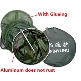 Fishing Net 170cm Durable Wear-Resisting Collapsible Fish Crawdad Shrimp Minnow Fing Bait Trap Dip Fishing Nets ChinaAluminumish