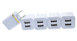 2015 High Quality 5V 2.1 1A Double US AC Travel USB Wall Charger for iPhone Samsung Galaxy HTC Cell Phones Adapter