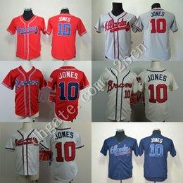Wholesale Cheap Youth Atlanta Braves Kids Jerseys Chipper Jones Baseball Jerseys Mix Orders Embroidery Logos stitched size S XL