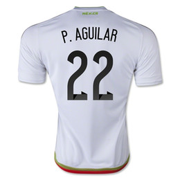 Wholesale Mexico Team P AGUILAR Away Soccer Jersey Football Shirts Tops Cheap Mexico Jersey Discount Shop yakuda Customized Jersey