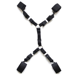 Wholesale Under Bed Restraints Adult Sex Product for Couple Bedroom Ankle Wrist restraint Bondage Harness Nylon Belt