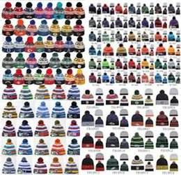 Wholesale 2015 SPORT KNIT Onfield Sideline Beanie Winter Pom Knit Cap Hat Whiz Skully Winter Beanie Cuffed Pom Authentic Original Hat Cap