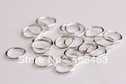 Wholesale Copper 8mm Jump - Free Shipping 100pcs lot 8mm silver color jump ring jewelry findings accesories 1mm wire Diameter