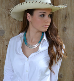 Wholesale Statement Necklace Genuine Leather with Gold or Silver Tube Accents Chunky Tubular Pipes Choker Many Colors