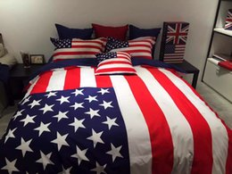 Wholesale 2015 Summer New British and American Style Duvet Cover Sets Fashion Cotton Bedding Sets Queen Size King Size Express Delivery