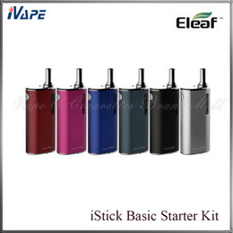Wholesale iSmoka Eleaf iStick Basic Starter Kit Original Eleaf iStick Basic Battery mah With GS Air Atomizer ml VS Nebox SUBVOD