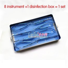 Wholesale Titanium ophthalmic microsurgical instruments cm Hand Surgery box sets with disinfectant