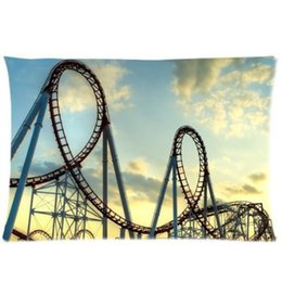 Wholesale Home Decorative roller coaster Twin Side Fashion Custom Rectangle Best Pillowcase Pillow Case Cover X30 Inch