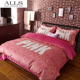 Wholesale Pink VS Secret Winter Bedding set velvet bed linen bed sheet set luxury wedding bedding set designer bedding duvet cover queen