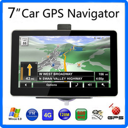 Wholesale 7 inch Car GPS Navigator HD Screen FM Transmitter Tracking Acquisition WinCE6 GB IGO Primo Maps