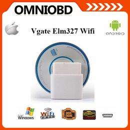 Wholesale 10 A Quality ELM327 Wifi Original Vgate iCar elm327 elm WIFI OBDII OBD2 For Android PC iPhone iPad Car