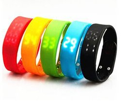 Wholesale New Arrival Smart Sport Bracelet Watch Pedometer Sleep Monitor Step Distance Calorie Counter For Sale