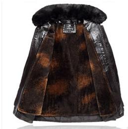 Wholesale Fall Plus sizeXL XL Best quality Luxury Brand Men s leather jacket Men Long motorcycle leather jacket men superwarm fur winter coat