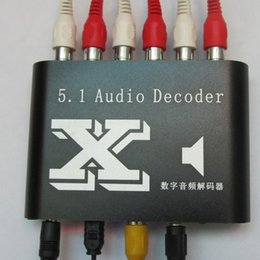 Wholesale New DTS AC Home Theater channel audio decoder Gear DTS AC3 Digital Audio converter Dolby analog stereo R L to or