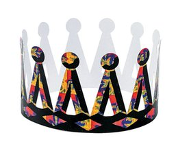 Wholesale 12PCS Scratch crown Party decoration Novelty toys Art fun Kids party favor Scraping painting Paper crafts Freeshipping