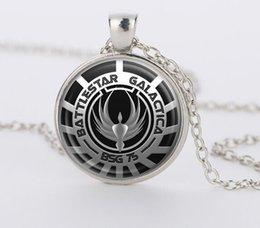 Wholesale Battlestar Galactica Pendant Glass Dome necklaces Pendants silver vintage Necklace for men women gift movie jewelry CN