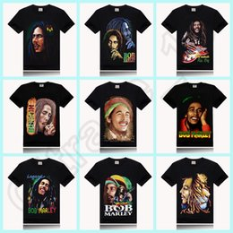 Wholesale 100PCS HHA597 BOB MARLEY print new style round neck t shirt rock sir style promotion price design