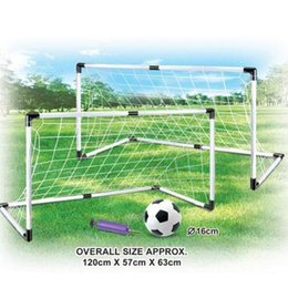 Wholesale 1Set Portable cm Sports Kids Soccer Goal toy for Children Football Toy