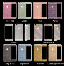 Wholesale Luxurious Bling Diamond Glitter Sticker Shiny Front Back Side Stickers For iPhone c s s plus for Galaxy S4 S5 S6 S7 edge Note