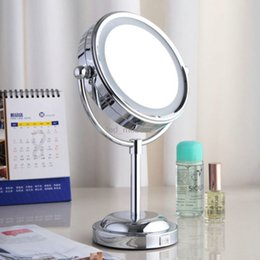Wholesale NEW quot Double Side Makeup Cosmetic X Magnify Mirrors Led Light Adjustable Magnification Lighted Makeup Mirror Vanity