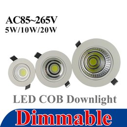 Wholesale COB LED Downlight w w w Epistar Dimmable Recessed Down Light Ceiling Living Room LED Lamp Driver Warranty years