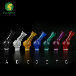 somedaytech 360 Degree Rotatable Style Drip Tip Acrylic EGO Atomizer Mouthpiece for 510plastic drip tips fit EGO vivi nova Atomizer Clearom